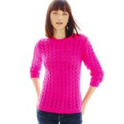 Joe Fresh™ 3/4-Sleeve Cable Sweater