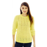 Joe Fresh™ 3/4-Sleeve Cable Sweater