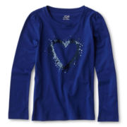 Joe Fresh™ Sequin Graphic Tee - Girls 4-14