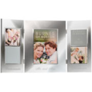 Burnes of Boston® Wedding Hinged 5-Opening Collage Picture Frame