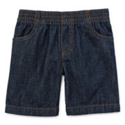 Okie Dokie® Pull-On Denim Shorts – Boys 2t-5t