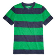 Arizona Short-Sleeve Striped Knit V-Neck Tee – Boys 8-20 and Husky