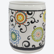 Waverly® Pom Pom Wastebasket