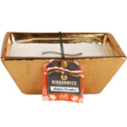 RibbonWick® Medium Rectangle Golden Pumpkin Candle