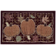 Pumpkin Plaid Holiday Rug