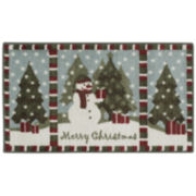 Christmas Snowman Holiday Rug