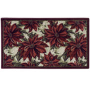 Poinsettia Holiday Rug