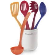 KitchenAid® 6-pc. Crock and Utensil Set
