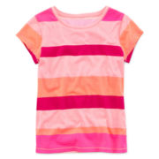 Arizona Short-Sleeve Striped Favorite Knit Tee – Girls 7-16 and Plus
