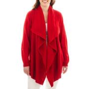 Liz Claiborne Long-Sleeve Cardigan Sweater - Plus