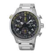 Seiko® Mens Prospex Solar Chronograph Silver Bracelet Watch SSC369