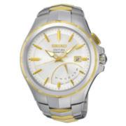 Seiko® Mens Coutura Kinetic Retrograde Two-Tone Bracelet Watch SRN064