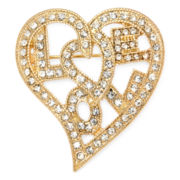Liz Claiborne® Crystal Love Pin