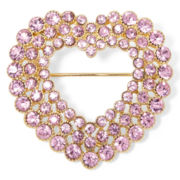 Monet® Pink Crystal Heart Pin