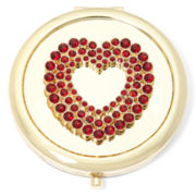 Monet® Red Heart Compact Mirror