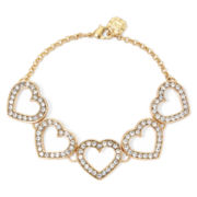 Monet® Crystal Heart Flex Bracelet