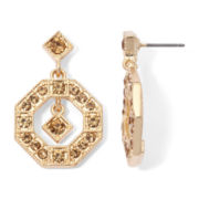 Monet® Champagne Crystal Gold-Tone Orbital Earrings