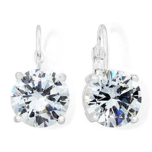 Monet® Silver-Tone Crystal Drop Earrings