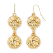 Monet® Double Knot Earrings