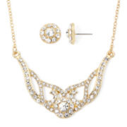 Monet® Crystal Collar Earring and Necklace Set
