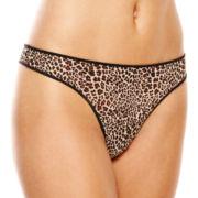Ambrielle® Mesh Thong Panties