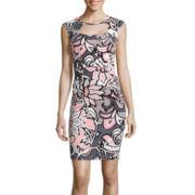 Bisou Bisou® Sleeveless Hardware Sheath Dress
