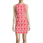 Alyx® Sleeveless Geometric Print Sheath Dress