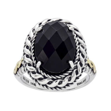 jcpenney.com | Shey Couture Sterling Silver and 14K Gold Genuine Onyx Ring