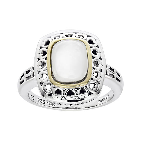 Shey Couture Antiqued Mother-of-Pearl Sterling Silver Ring
