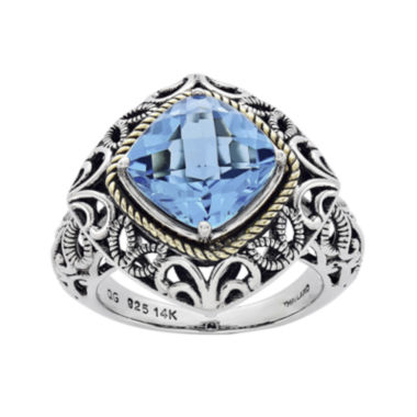 jcpenney.com | Shey Couture Genuine Sky Blue Topaz Sterling Silver 14k Gold Ring