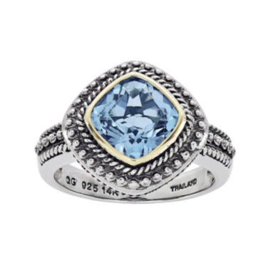 jcpenney.com | Shey Couture Genuine Blue Topaz Sterling Silver 14k Gold Ring