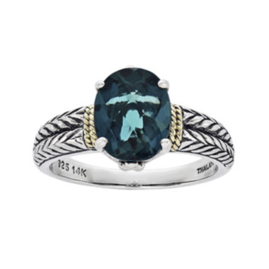 jcpenney.com | Shey Couture Genuine London Blue Topaz Sterling Silver Oval Ring