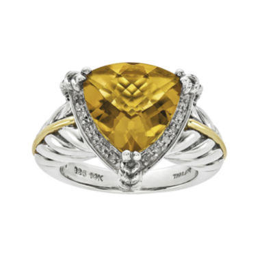 jcpenney.com | Shey Couture 1/10 CT. T.W. Diamond and Genuine Citrine Sterling Silver Ring
