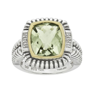 jcpenney.com | Shey Couture Genuine Green Quartz and Diamond-Accent Sterling Silver Ring