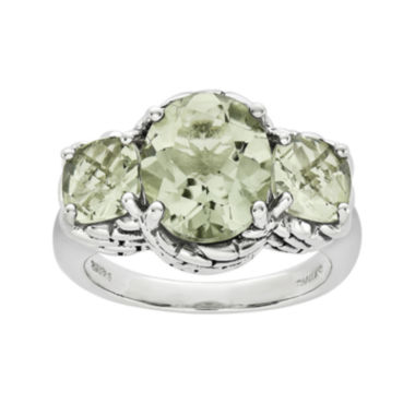 jcpenney.com | Shey Couture Genuine Quartz Sterling Silver Green Ring