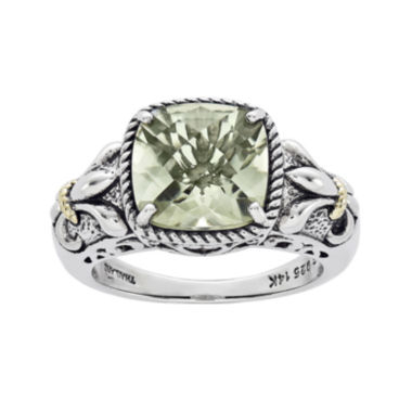 jcpenney.com | Shey Couture Green Quartz Sterling Silver Antiqued Ring