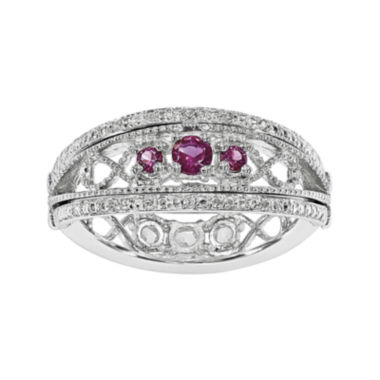 jcpenney.com | Lab-Created Ruby and White Sapphire Sterling Silver Flip Ring