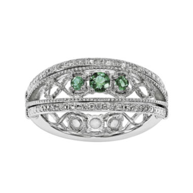 jcpenney.com | Lab-Created Emerald and White Sapphire Sterling Silver Flip Ring