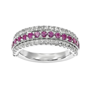 jcpenney.com | Lab-Created Ruby, Emerald and White Sapphire Sterling Silver Flip Ring