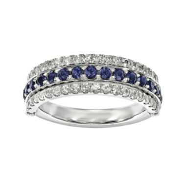 jcpenney.com | Lab-Created Blue Sapphire, Emerald and White Sapphire Sterling Silver Flip Ring