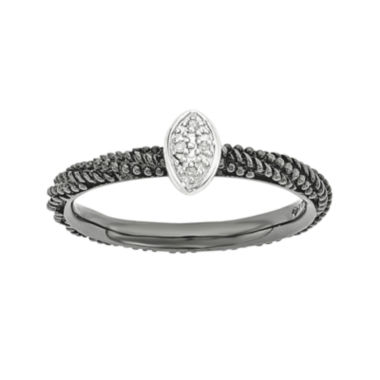 jcpenney.com | Personally Stackable Diamond-Accent Sterling Silver Stackable Ring