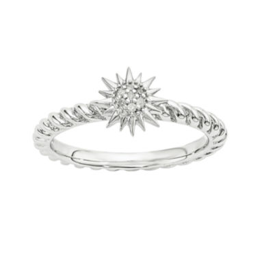 jcpenney.com | Diamond-Accent Sterling Silver Stackable Star Ring