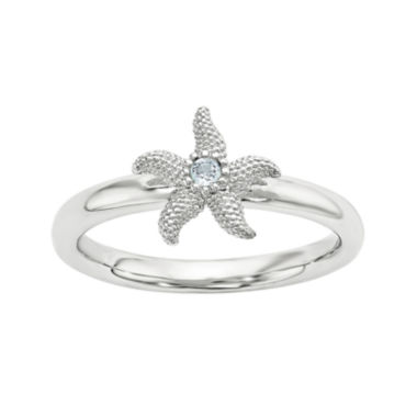 jcpenney.com | Genuine Blue Topaz Sterling Silver Stackable Starfish Ring