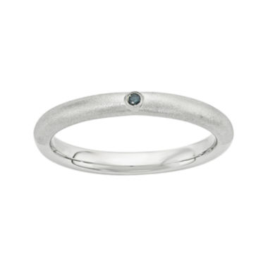 jcpenney.com | Personally Stackable Color-Enhanced Blue Diamond-Accent Sterling Silver Stackable Ring