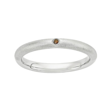 jcpenney.com | Personally Stackable Color-Enhanced Red Diamond-Accent Sterling Silver Stackable Ring