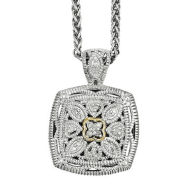 jcpenney.com | Shey Couture 1/10 CT. T.W. Diamond Sterling Silver 14K Gold Necklace