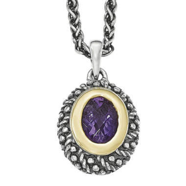 jcpenney.com | Shey Couture Sterling Silver Genuine Amethyst Pendant Necklace