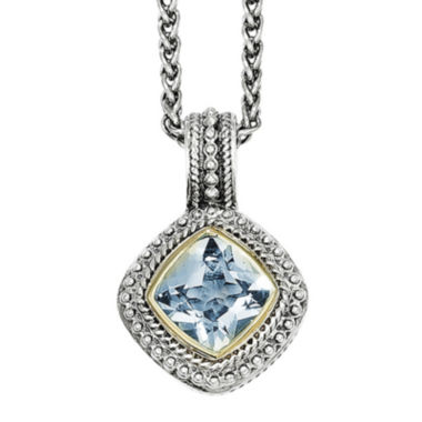 jcpenney.com | Shey Couture Genuine Blue Topaz Sterling Silver 14k Gold Pendant Necklace