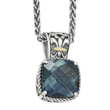 jcpenney.com | Shey Couture Genuine London Blue Topaz Sterling Silver Necklace