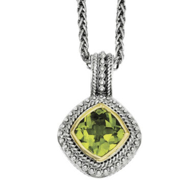 jcpenney.com | Shey Couture Genuine Peridot Sterling Silver 14K Gold Pendant Necklace
